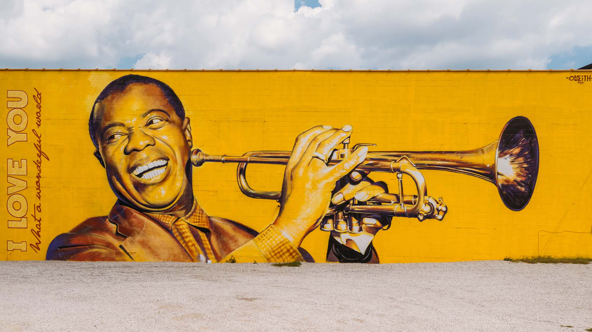 A mural of Louis Armstrong - perfect weekend trip